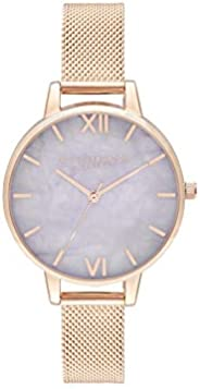 Olivia Burton Womens Quartz Watch, Analog Display and Stainless Steel Strap OB16SP16