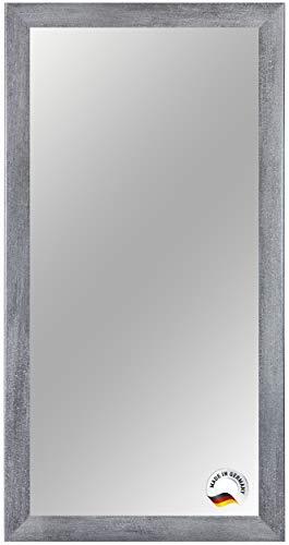 Spiegelrahmen nach Maß, 61 cm x 30 cm, Farbe: Grau-Marmor, Spiegel Wandspiegel Badspiegel Bad Flur, Rahmenbreite 35 mm
