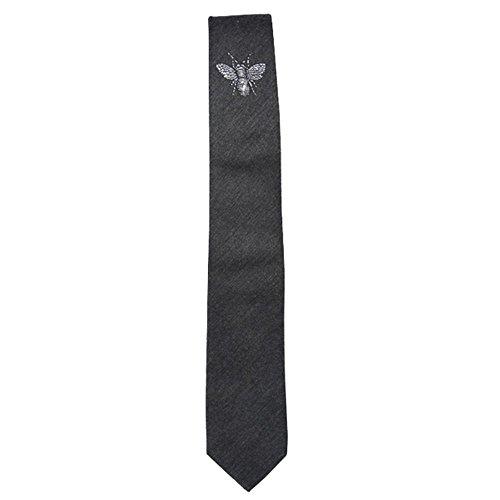 Yamyannie Mariage Classique Cravate Mode Entreprise Laine Jacquard Bee Mark pour Homme livré dans Une boîte Cadeau Cravate Costume décoratifs