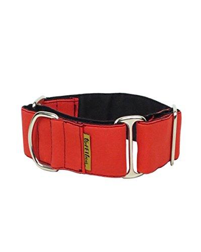 ThePetLover - Collar Martingale para Perros, L, Rojo y Negro