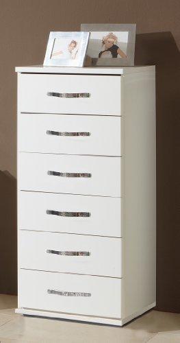 Wimex 078318Duo Kommode 6Schubladen Holz alpinweiß 40x 46x 103cm