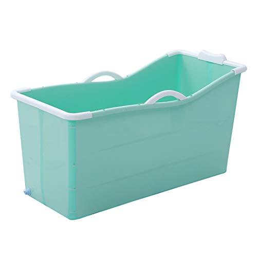 WENJUN Tina De Baño Plegable para Adultos para Azul, Bañera De La...