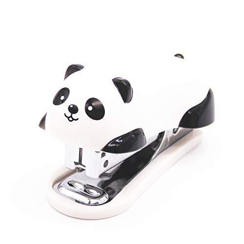 SDFIUH Mini panda grapadora dibujos animados oficina