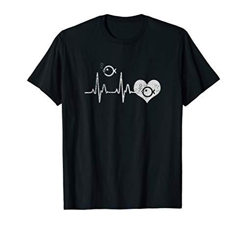 Fischliebhaber T-Shirt Heartbeat Aquarianer Geschenk