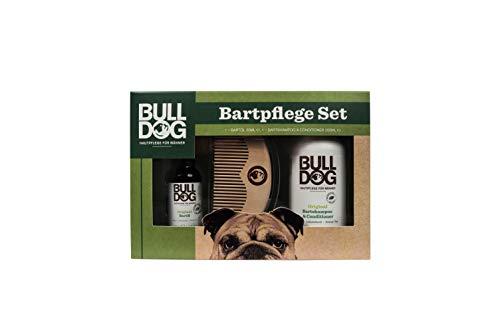 Bulldog Geschenkset Bartpflege Herren mit Bartshampoo, Bartöl, Bartkamm, 1er Pack (1 x 1 Stück)
