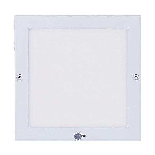 Ultraslim LED Panel 18W Deckenleuchte mit Bewegungsmelder (PIR Sensor + Dämmerungssensor) Tageslichtweiß 4000K - 80 X 84 Panel