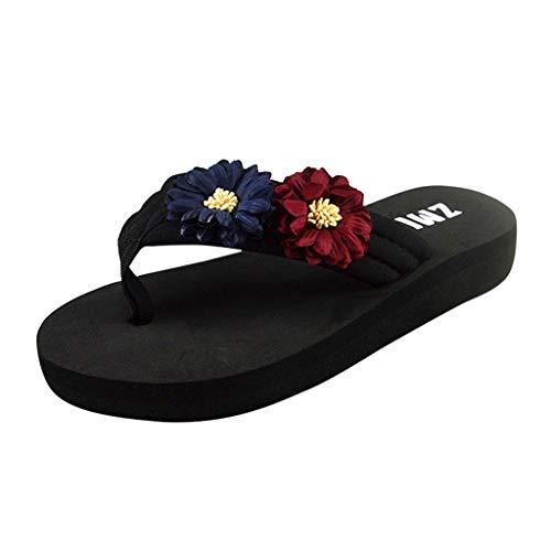 Dasongff Strandsandalen Damen Dick-Sohlen Damenschuhe Rutschfest Sandalen 3cm