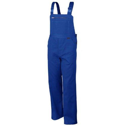 Latzhose QUALITEX 270, 5 Farben, einlauffeste Baumwolle, Größe 44-64, 90-110 56,Kornblau (Blass Mann Kostüm)