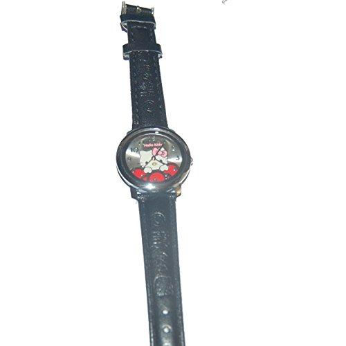 (Bijoux Kids Kinder-Armbanduhr, Hello Kitty, Kunstleder, Schwarz)