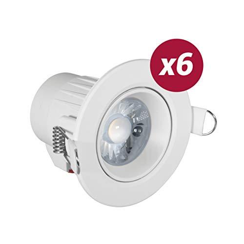 POPP FOCO DOWNLIGHT LED 7w color blanco,LUZ calido3000k chip Osram. para falso...