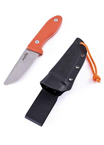 SCHNITZEL UNU, Kindermesser Schnitzmesser und Outdoormesser für Kinder, scharf mit Kydex Scheide und Gürtelhalterung, div Farben (Orange)