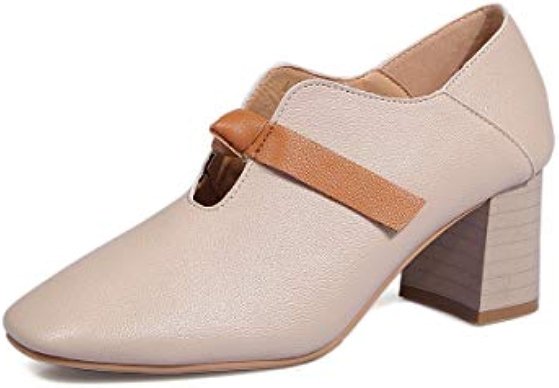KOKQSX-des Chaussures à la Mode Les Talons cm Hauts Talons tête carrée 6 cm Talons Petite Bouche.B07HY1TMNBParent 7c9e53