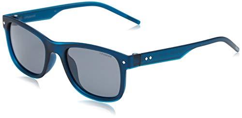 Polaroid Unisex-Kinder PLD 8021/S 67 QMU 47 Sonnenbrille, Blau (Bluette/Grey Pz <) <,