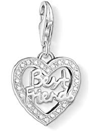 Thomas Sabo Women-Charm Pendant BEST FRIENDS Charm Club 925 Sterling Silver Zirconia white 1307-051-14 pgotlQ