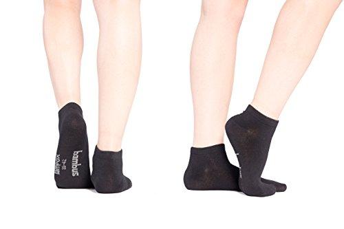 Sneaker ♻Bambussocken - 6 Paar - Atmungsaktiv - Komfortbund - Geruchshemmend - Antibakteriell - Klimaregulierend - Saugfähig - Reduziert Fußschweiß - Superweich - Socken (47-50, Schwarz)