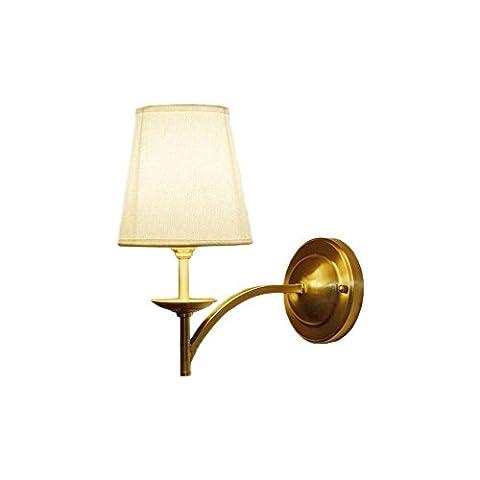 American Style Rural Simple Tout Tissu en bronze LED Applique