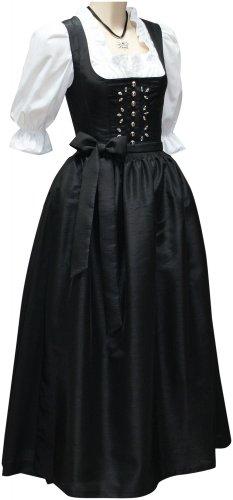 Dirndl Festtracht Kristall Kleid Trachtenkleid Dirndlkleid Ballkleid schwarz, (Brautkleid Gothic Red)