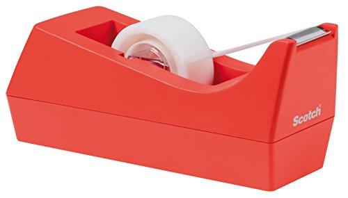 Scotch C38O810 Tischabroller für Klebefilm, inklusiv 1 Rolle, Klebeband, 19 mm x 8.89 m, orange