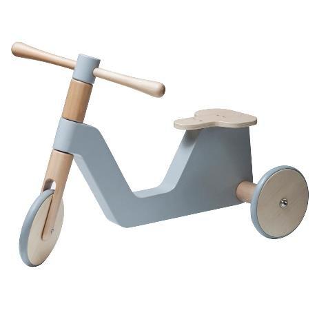 Sebra Scooter, grau Tretauto Dreirad Laufrad 59cm x 31,5cm x 41,5cm Birkenholz und Samakbaum grau Neutral Junge Mädchen Geschenk