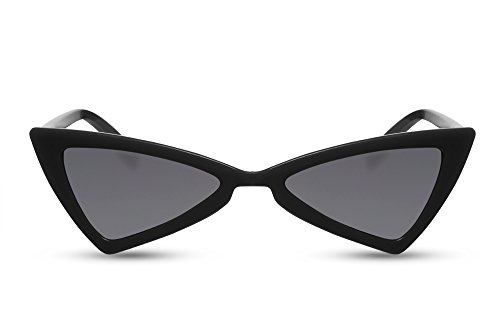 Cheapass Cat-Eye Sonnenbrille Schwarz Grau-e Gläser UV-400 Fashion-Accessoire Damen-Brille
