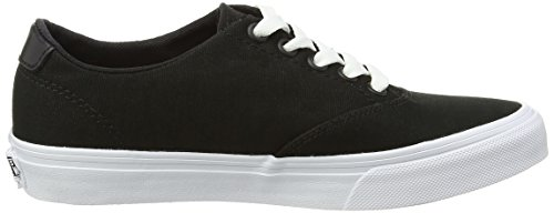 Vans Winston Decon, Baskets Basses femme Noir - Black (Canvas - Black/White)