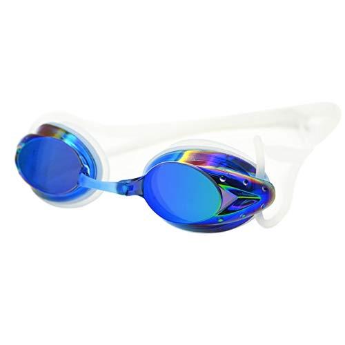 Moocevill - Schwimmen Berufsgläser Arena Racing Game Schwimmen Anti-Fog-Brille Schwimmen-Gläser Bunte [blau]