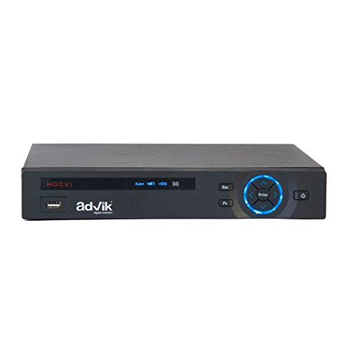 Advik Alliance 8Ch Full HD 1080P DVR AD-841HD5 Playback At Up To 256X Speed HDmi Output Analog HDCVI , IP Support