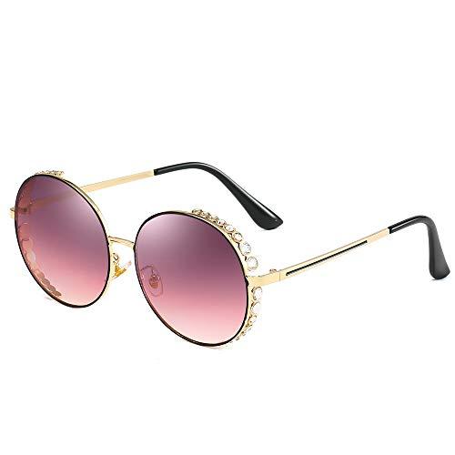 YIWU Brillen Damen Sonnenbrillen Europa Metallrahmen Diamond Inlay Sonnenbrillen Persönlichkeit HD Ocean Sunglasses Sunglasses Brillen & Zubehör (Color : 6) -