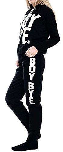 Vanilla Inc - Survêtement - Manches Longues - Femme noir * BLACK BOY BYE