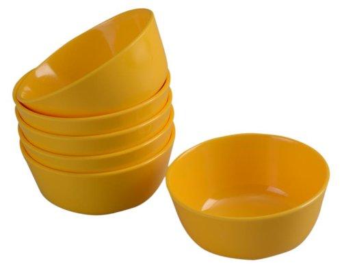 Servewell Round Veg Bowl Set, 10.5cm, Set of 6, Yellow