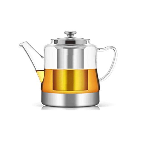 Teekannen, Kaltwasserkocher, Edelstahl-Filter, Hitzebeständig, Hochtemperaturbeständig, Verdickt, Anti-Burst, 4 Tassen, Barboo Tablett, Minute Tee-Utensilien