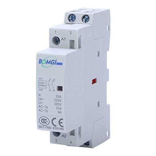 20 Ampere, 2-polig 2 normal offener (NO) Schütz 20 A AC, Spule 230 V AC DIN-Schienenbefestigung AOD -