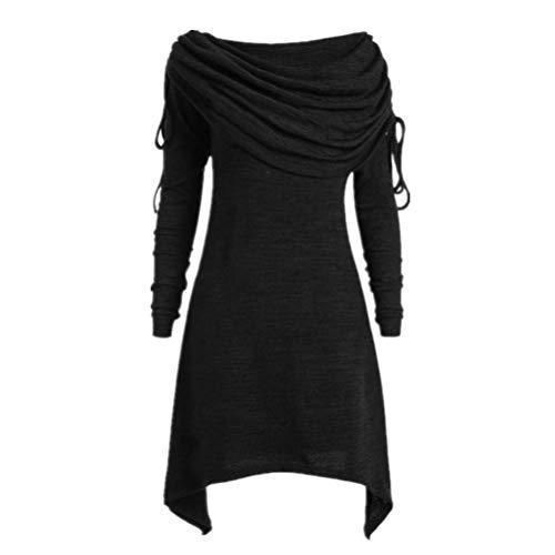 Übergröße Pullover Damen Frauen Mode Elegante Irregulär Oberteile Bluse DOLDOA
