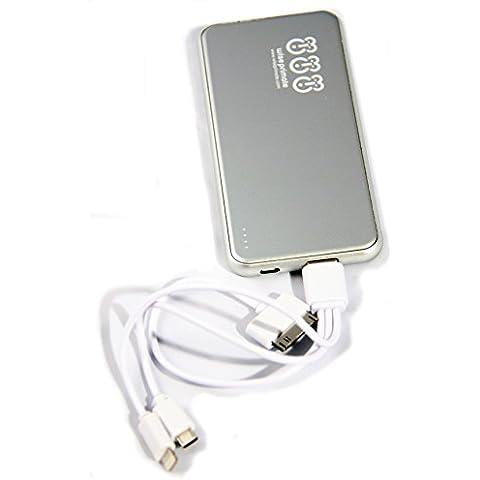 wiseprimate Slimline Cargador Powerbank para teléfonos móviles, iPhone, Samsung Galaxy & todos los dispositivos USB cargada