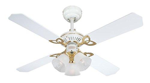 Westinghouse Princess Trio 105 cm/ 42-inches Ceiling Fans, White-White Cane/ White