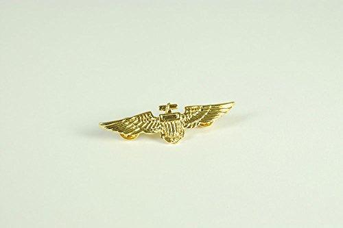 Aviator Stift Metall / Goldfarbe Orden für Piloten Air Crew Biggles Kostüm Orden