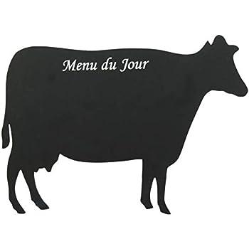 Tableau ardoise mémo pense-bête magnétique forme - Vache