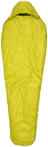 Marmot Hydrogen Saco de Dormir Mummy, Ultraligero, de Verano, para Acampar y Trekking, Hombres, Amarilla (Dark Citron/Olive), Largo-198 cm