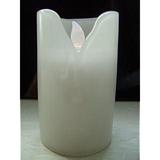 Aeternum LED Grablicht Weiss | Grabkerze elektrisch | Grableuchte | Kerze weiß