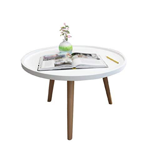 YZjk Pequeña Mesa de café en el hogar, Creativa Blanca pequeña ...