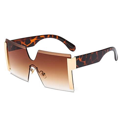 KUNHAN Damen Sonnenbrille Damen Übergroße EineBrilleSonnenbrille Sommer Mode PolarisierteBrille Shades Brille