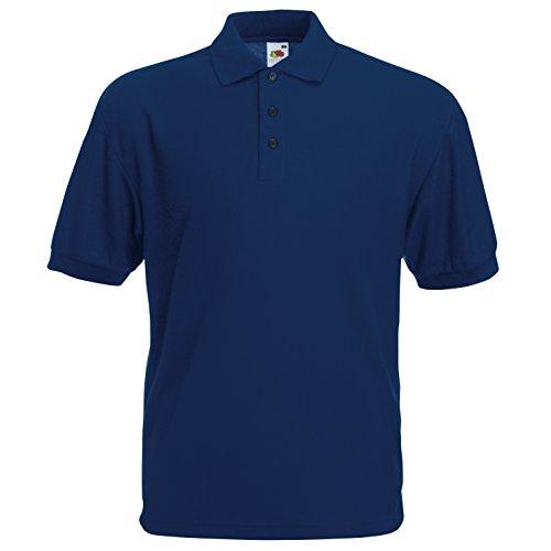 Fruit of the Loom - Polo -  - Uni - Col chemise classique Homme Bleu Marine