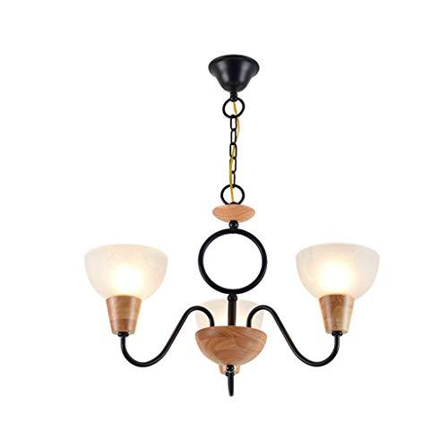 Distressed Gold Finish (Tao-Miy Distressed Oak Finish Bauernhaus Kronleuchter Beleuchtung Unterputz LED Deckenleuchte Pendelleuchte Esszimmer Schlafzimmer Wohnzimmer (größe : 3 Köpfe))