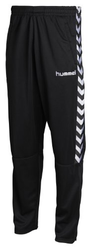 Hummel - Pantaloni Stay Authentic, poliestere, colore: Nero, Nero (nero), L