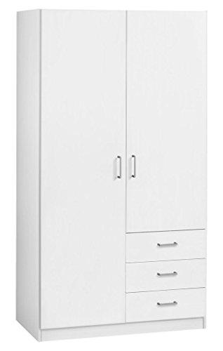 jysk-wardrobe-hagendrup-2doors-3-draw-white