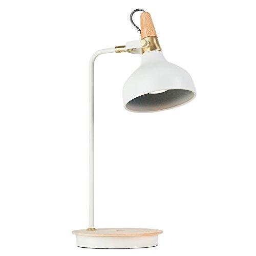 DHG Nordic LED-Lampe, Wiederaufladbare Augenpflege Schreibtisch College-Studenten Warten, Studieren Studie Schlafzimmer Schlafsaal Kreative Leselampe,Weiß,berühren (Schreibtisch-lampen-college)