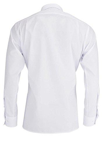 MARVELiS-Hemd MODERN-FIT (schmaler Schnitt) 4700 uni Extra langer Arm 00-weiss