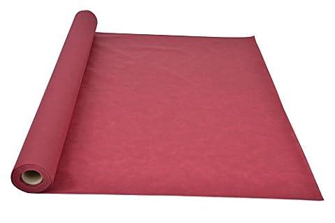 Sensalux light Tischdeckenrolle, OEKO-TEX ® 100 - Made in Germany - 25m lang (Farbe nach Wahl), bordeaux, 1,10m x 25m, stoffähnliches Vlies, ideal für jede Party, Vereinsfeier, (Papier Tischdecken Weihnachten)