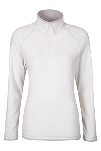 Mountain Warehouse Montana Damenvlies Mikro fleece Jacke Pullover kuschelig warm sportlich Cremefarben DE 40 (EU 42)