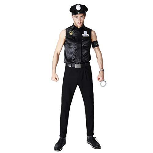 thematys Polizei Kostüm SWAT Uniform - Kostüm-Set für Damen & Herren - perfekt für Fasching, Karneval & Cosplay - Einheitsgröße (Herren) (Polizist Halloween-kostüm Mann)